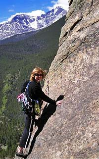 Vicki on a Rock