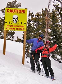 Vicki and Christina at Eldora Ski Area near Hideout Cabins in Allenspark
