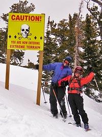 Vicki and Christina at Eldora Ski Area near Hideout Cabins in Allenspark